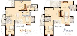 bedroom duplex floor plans 5 bhk duplex 4 325 sq ft 3 bedroom