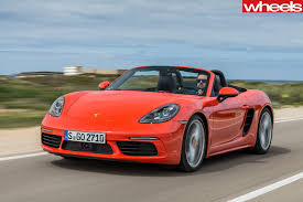 orange porsche convertible 2016 porsche 718 boxster s review wheels