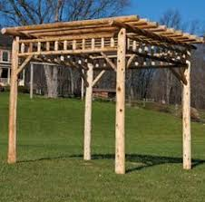 Swing Arbor Plans Cedar Log Pergola U0026 Swing Woodn U0027t It Be Nice Pinterest