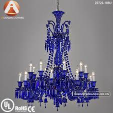 blue crystal chandelier light baccarat style blue crystal chandelier with 18 light buy blue