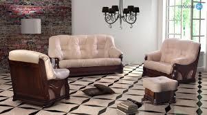 echtleder sofa liviani 3 2 1 set sofa echtleder antikstil emoebel24