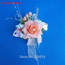coral boutonniere 1pc wedding flower boutonniere silk flower brooch artificial