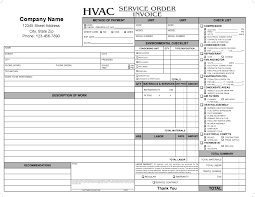 Air Conditioning Invoice Template by Carbonless Forms