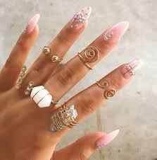 beautiful finger rings images Jewels gold ring finger rings beautiful nails nail polish jpg