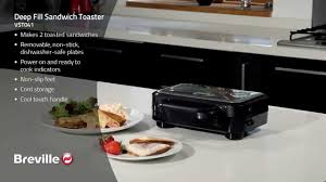 Sandwich Toaster With Removable Plates Breville Deep Fill Sandwich Maker Vst041 Youtube