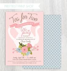printable tea party baby shower invitation tea pot floral