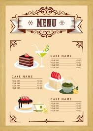 menu template dessert menu template cake beverages icons classical design free