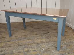 Copper Kitchen Table With Painted Base - Copper kitchen table