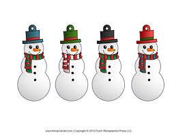 snowman free printable clipart