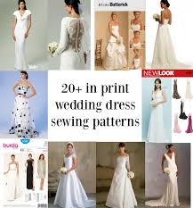 wedding dress pattern links to twenty in print bridal gown sewing patterns