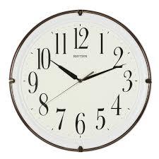 silent wall clocks rhythm modern brown luminous plastic silent wall clock