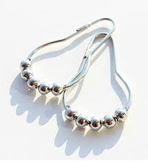 Roller Curtain Hooks 12pcs Curtain Rings Stainless Steel Polished Chrome Roller Shower