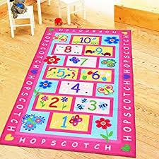 amazon com huahoo pink rug girls pink kids rug children u0027s rugs