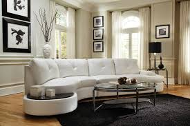 Contemporary Curved Sofa Sofa White Leather Sectional Modern Curved Sofa Circle