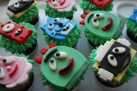 baking sheet yo gabba gabba cupcakes