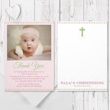 baptism thank you wording beautiful baby pink baptism christening thank you card