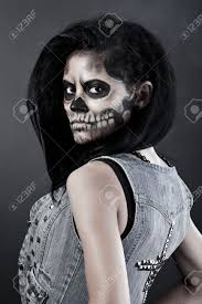 purge masks spirit halloween young woman in day of the dead mask skull face art halloween
