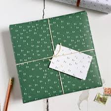 wrapping paper box tiny trees green wrapping paper set clara and macy