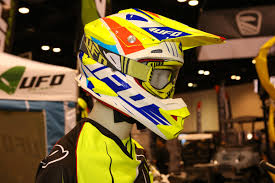 ufo motocross helmet fastway american international motorcycle expo aime day 1