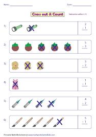 kindergarten and grade 1 subtraction worksheets picture subtraction