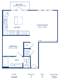 1 2 3 bedroom apartments in dallas tx camden belmont blueprint of luxe 1 floor plan 1 bedroom and 1 bathroom at camden belmont apartments