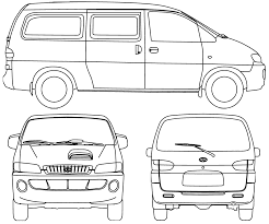 2008 hyundai h1 minivan blueprints free outlines