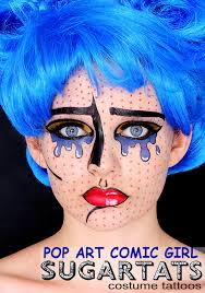 Pop Art Costume Halloween Pop Art Pop Art Tattoo Makeup