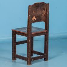 set of 6 antique 19th century swedish folk art painted chairs