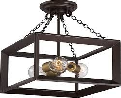 Quoizel Ceiling Light Quoizel Bkh1714wt Brook Hall Western Bronze Ceiling Light Fixture