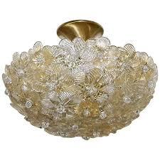 Ceiling Light For Sale Murano Glass Floral Semi Flush Mount Ceiling Pendant Light For