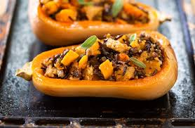 butternut squash with whole wheat rice