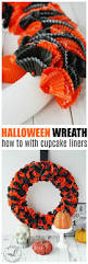 How To Make Halloween Mesh Wreaths by How To Make A Halloween Wreath Recipe Cupcake Wrappers Diy