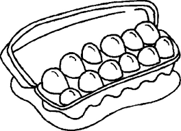 Dozen Of Chicken Egg Coloring Pages Netart Egg Colouring Page