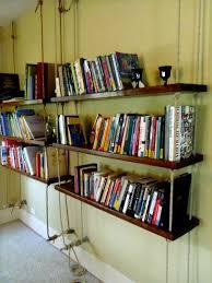 Wall Bookshelves Shelves Amusing Hanging Wall Bookshelves Hanging Wall