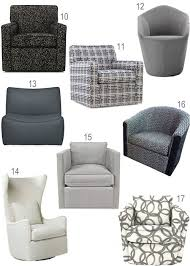 Small Swivel Chairs For Living Room Modern Grey Upholstered Swivel Chairs Haus Home Architecture