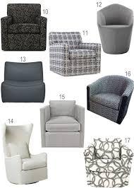 Living Room Swivel Chairs Upholstered Modern Grey Upholstered Swivel Chairs Haus Home Architecture