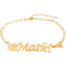 Personalized Name Bracelet Name Bracelet In Brass With Gold Plating High End Personalized