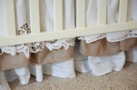 tiered ruffle crib skirt tutorial baby pinterest crib