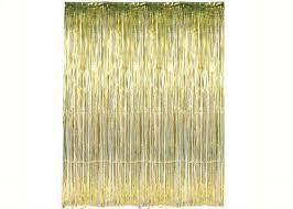 Tassel Curtain Gold Metallic Foil Party Tassel Curtain Fringe Wall Decoration