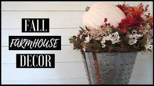 Home Center Decor Diy Fall Home Decor Fall Farmhouse Center Piece Youtube