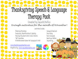 thanksgiving speech language therapy pack speechtivities