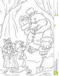 thumbelina mouse mole stock illustration image
