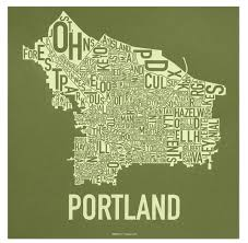 City Of Portland Maps by Portland Neighborhoods Map The Hippest Poster Of Portland In The