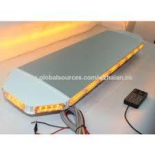 warning light bar amber china amber led low profile emergency warning lightbar chrome