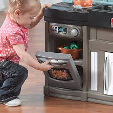 amazon com step2 best chef u0027s kitchen set blue black brown toys