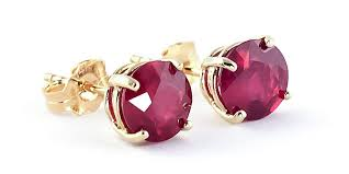 9ct gold stud earrings ruby stud earrings 3 5ctw in 9ct gold 3487y qp jewellers
