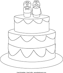 wedding cake clipart coloring page printable pencil and in color