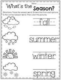 summer preschool worksheets preschool seasons seasons