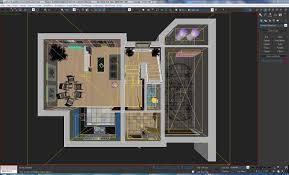 Autodesk Floor Plan 3d Model Home Interior Floor Plan 01 Cgtrader