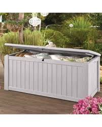 Keter Bench Storage Don U0027t Miss This Bargain Keter White Jumbo 150 Gallon Patio
